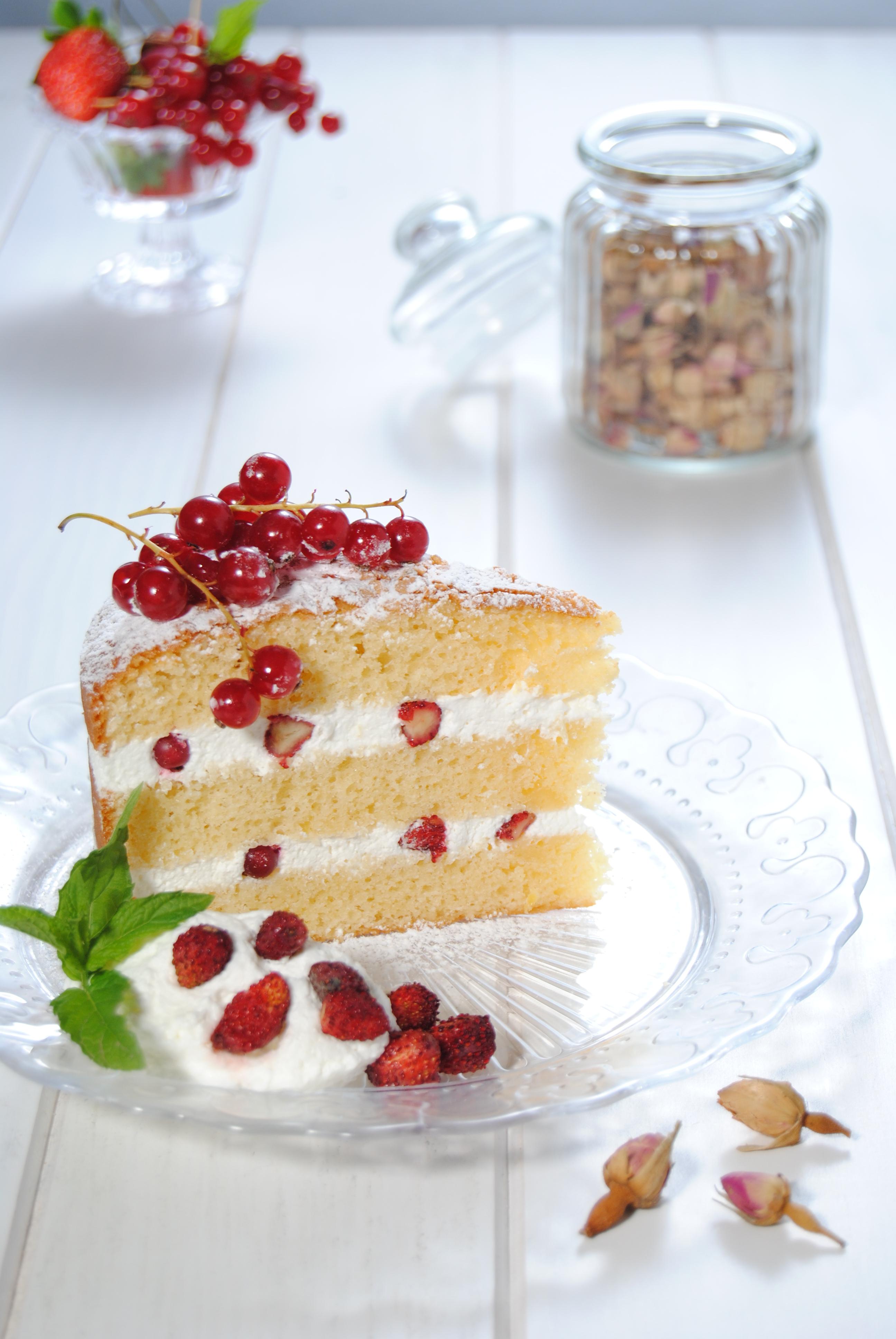 Torta con fragoline